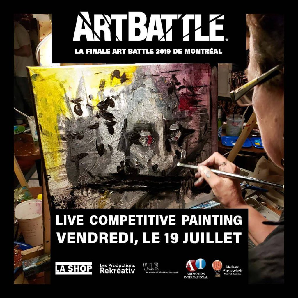 Affiche Art Battle finale Montréal 2019