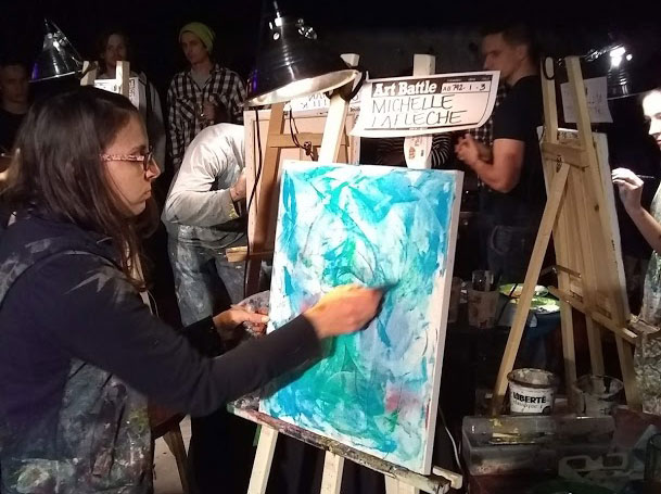 Michelle Laflèche au Art Battle